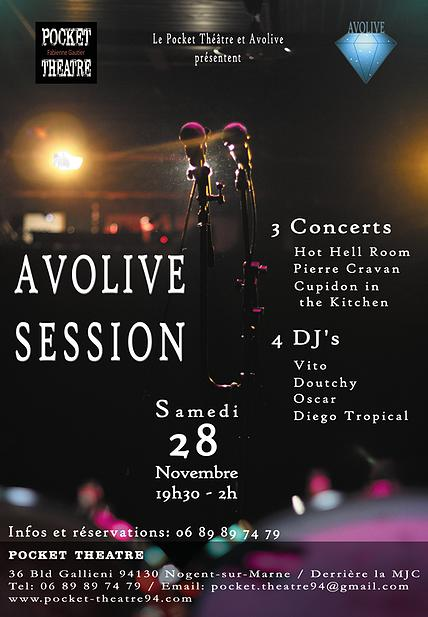 Affiche Concert Avolive 28 novembre